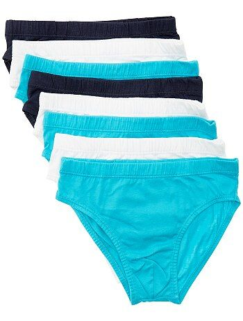 Lot de 8 slips unis en pur coton