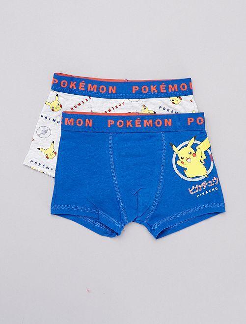 Lot de boxers 'Pikachu'                             gris/bleu