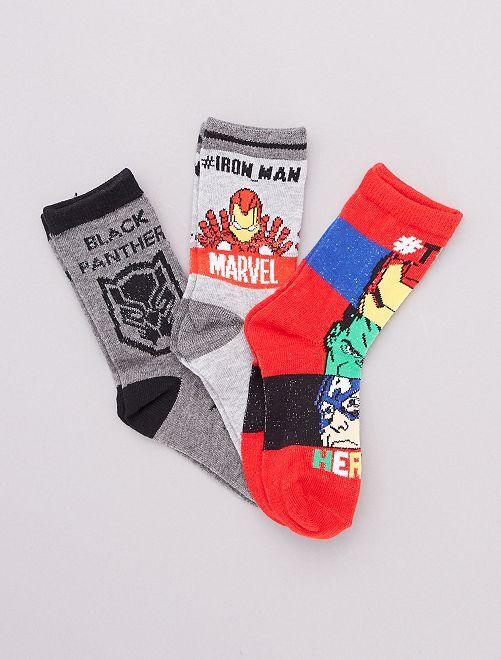 Lot de chaussettes 'Avengers' 'Marvel'                                         rouge