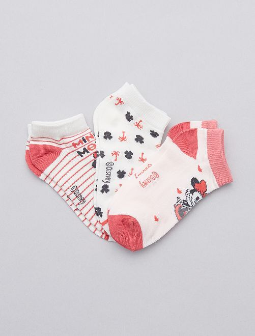 Lot de chaussettes invisibles 'Minnie Mouse'                             Minnie Fille