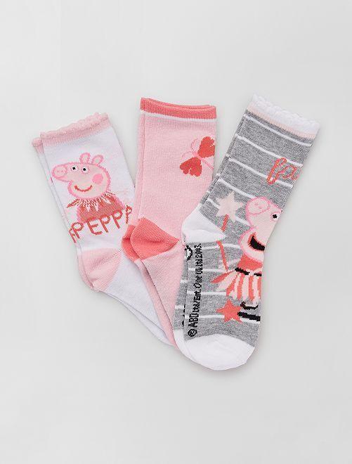 Lot de chaussettes 'Peppa Pig'                                         blanc