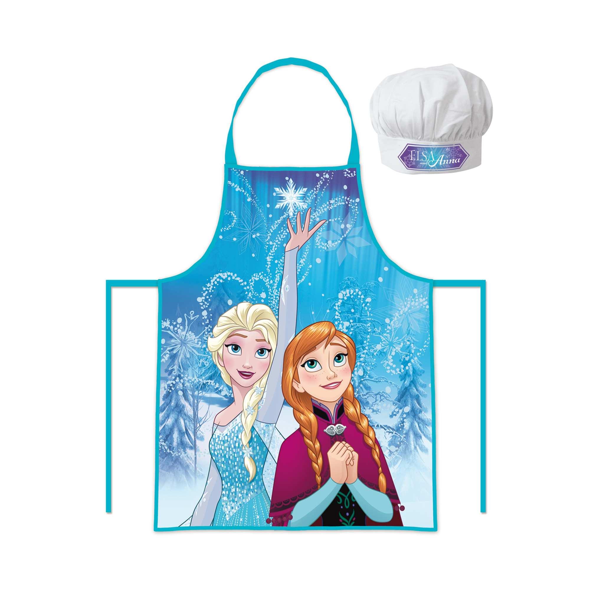 Couleur : bleu, , ,, - Taille : TU, , ,,Cuisine des petits plats magiques ! - Lot tablier + toque 'Disney' - Imprimé 'La