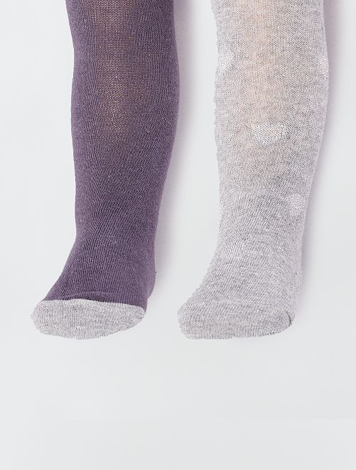 Lots de 2 collants                                                                                                     gris