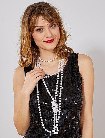 Femme - Lots de 2 sautoirs à perles - Kiabi