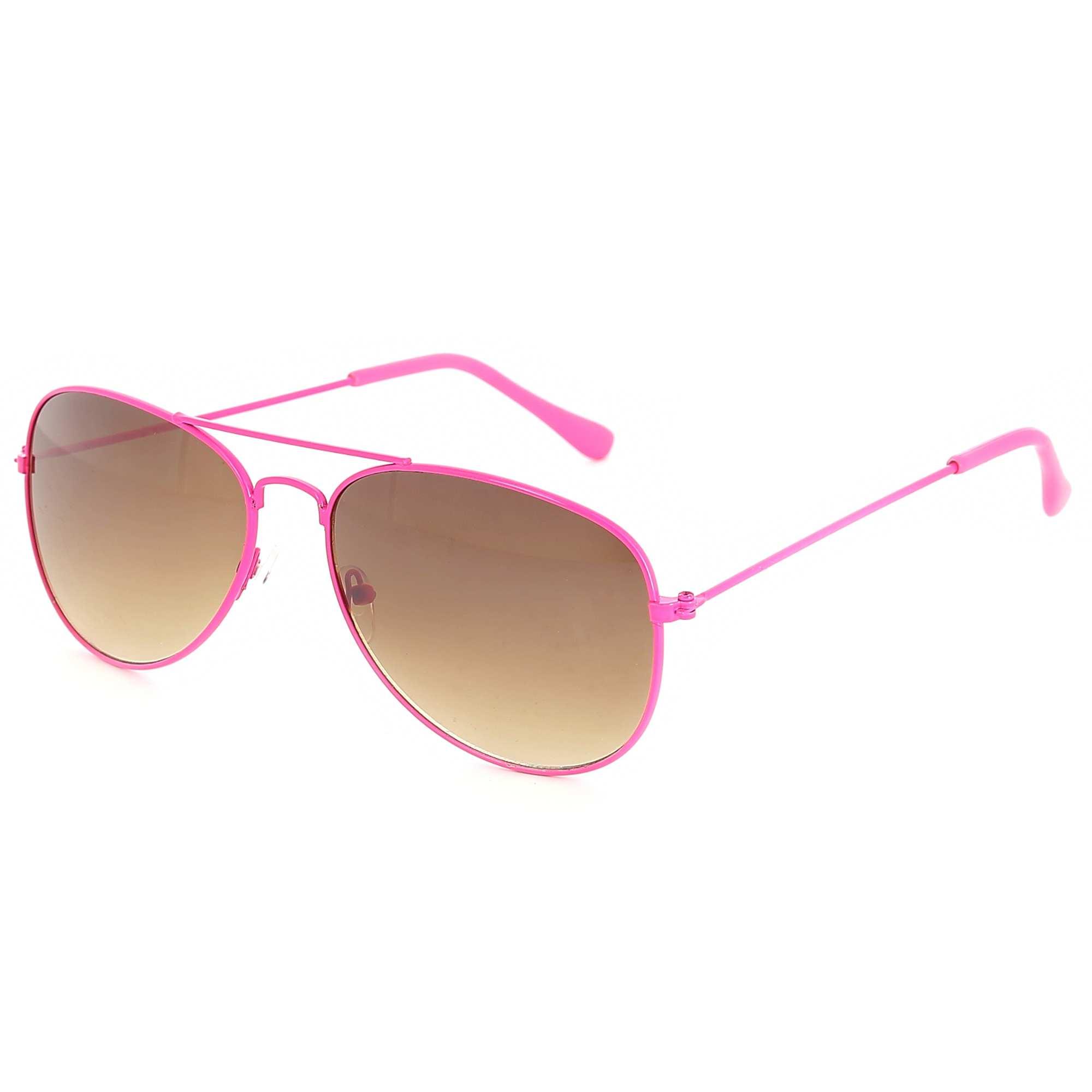 Couleur : rose, , ,, - Taille : TU, , ,,La touche fluo par excellence ! - Lunettes forme aviateur - Couleur néon rose -
