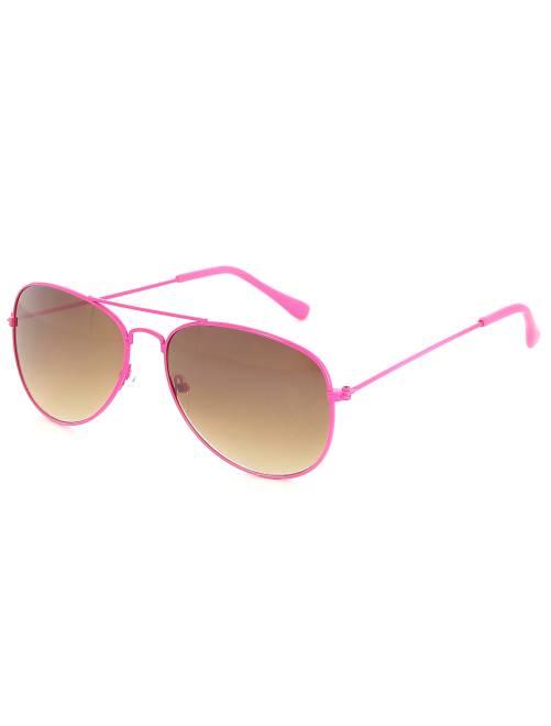 Lunettes aviateurs fluo                              rose