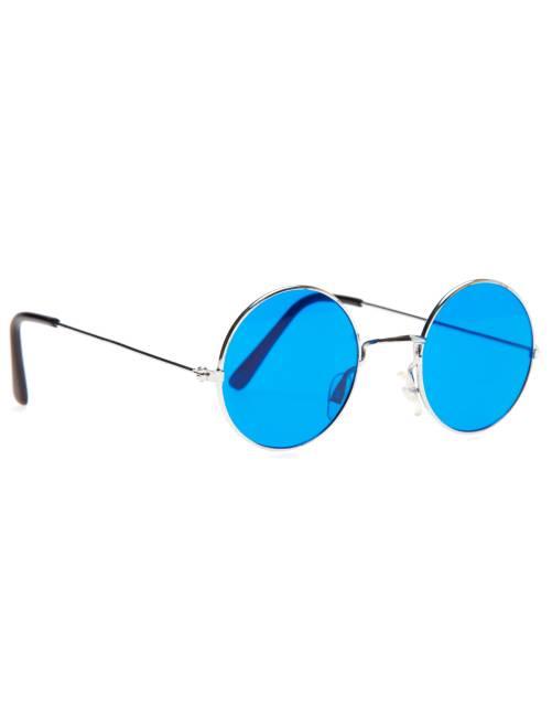 Lunettes rondes déguisement hippie                                                                 bleu