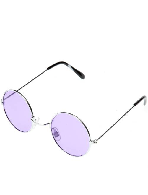 Lunettes rondes déguisement hippie                                                                                         violet