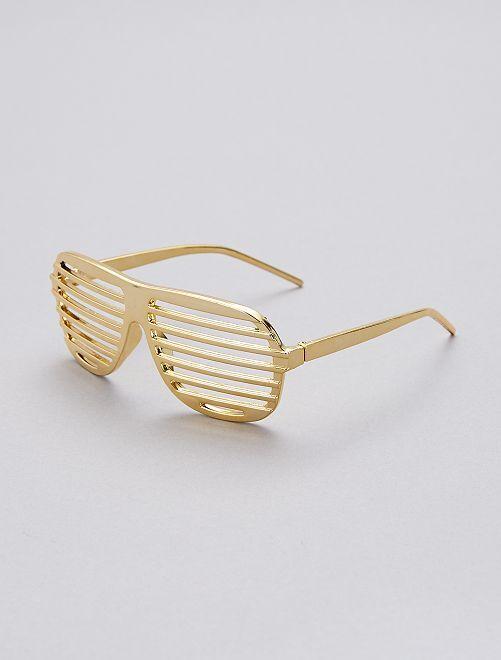 Lunettes striées                                                                             doré Accessoires