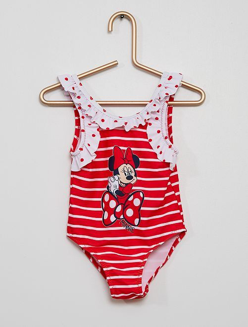 Maillot de bain 1 pièce 'Minnie'                                         rouge