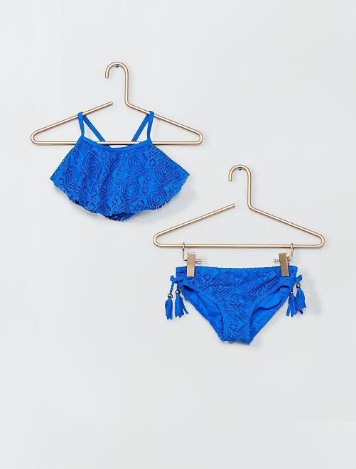 Maillot de bain 2 pièces                             bleu