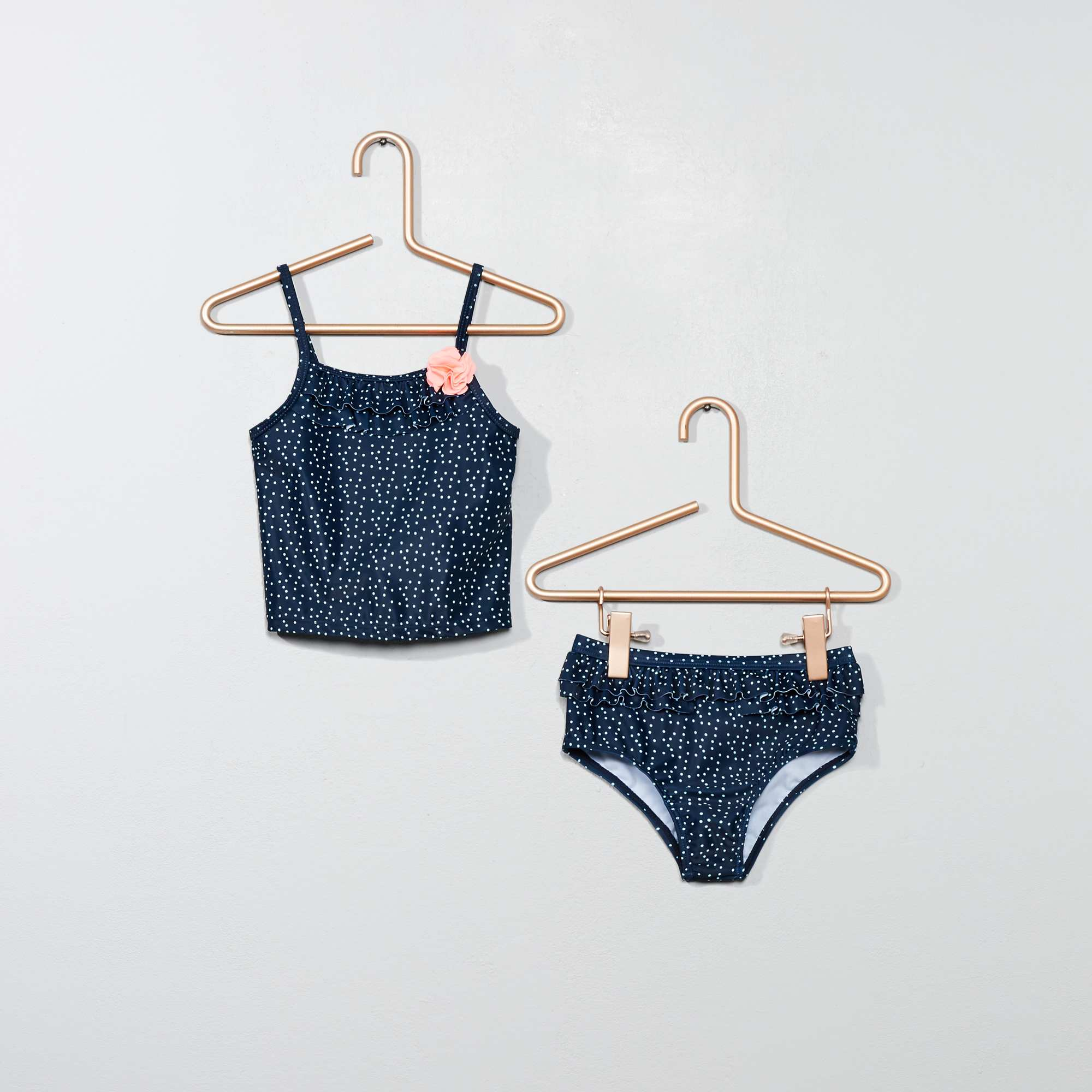 maillot de bain 2 pi ces tankini b b fille bleu marine. Black Bedroom Furniture Sets. Home Design Ideas