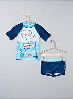 Maillot de bain, plage - Maillot de bain anti UV 'Petit Beguin' - Kiabi