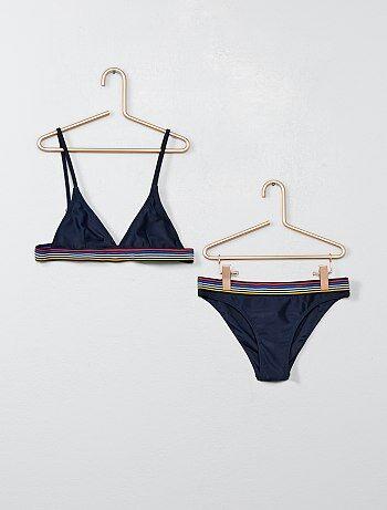 1ed959b028 Maillot 2 pièces Vêtements fille   bleu   Kiabi