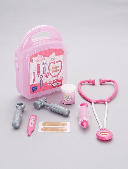 Mallette jeux pédiatrie                             rose