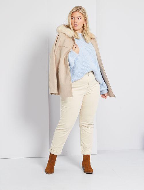 Manteau à capuche                                 beige