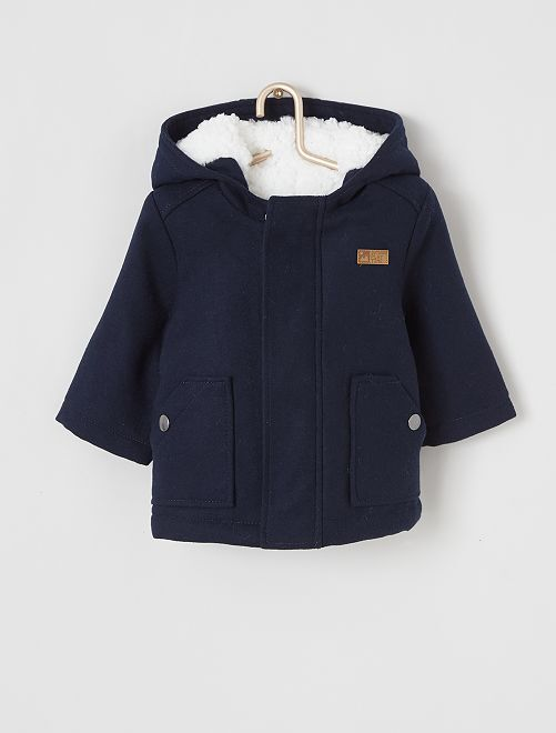 Manteau à capuche                                         bleu