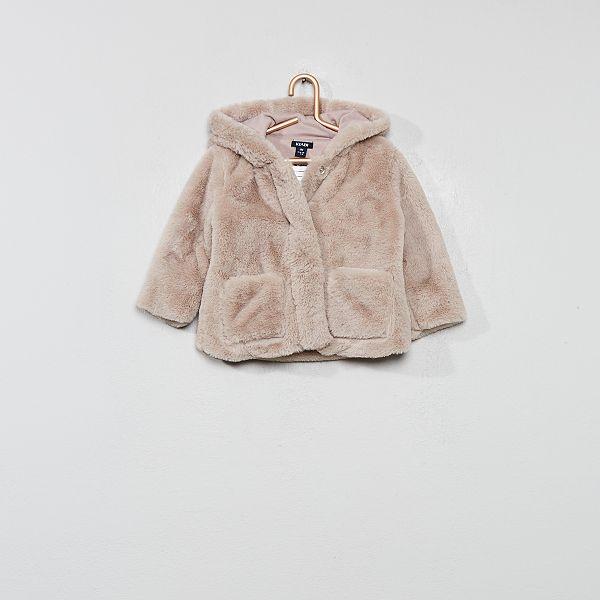 lower price with new design better Manteau à capuche en fausse fourrure