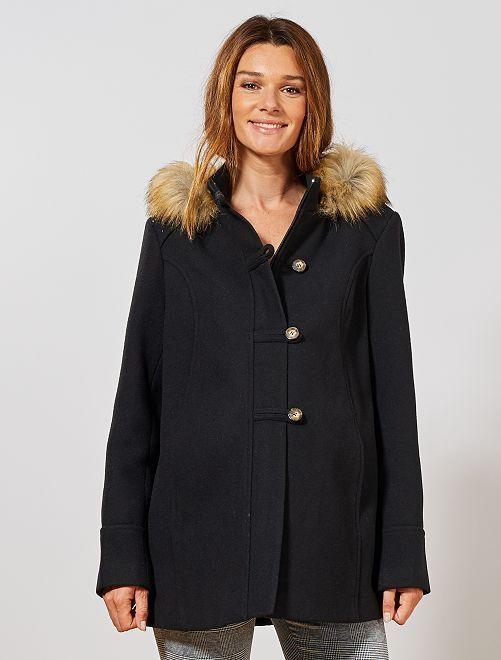 Manteau de maternité style duffle coat                                         noir Vêtement de grossesse