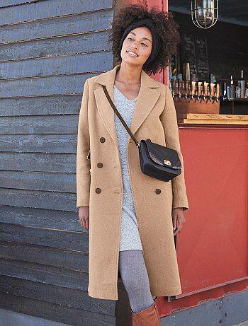 Manteau long gris femme kiabi