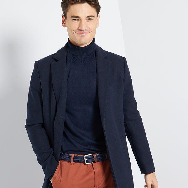 Manteau effet lainage Homme bleu marine Kiabi 45,00€