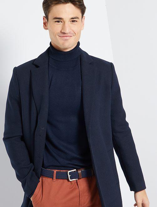 Manteau effet lainage                                                                 bleu marine
