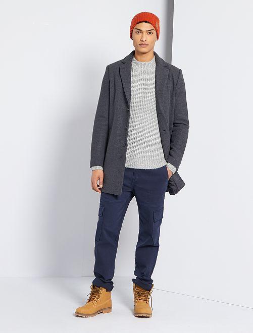 Manteau effet lainage                                                                 gris