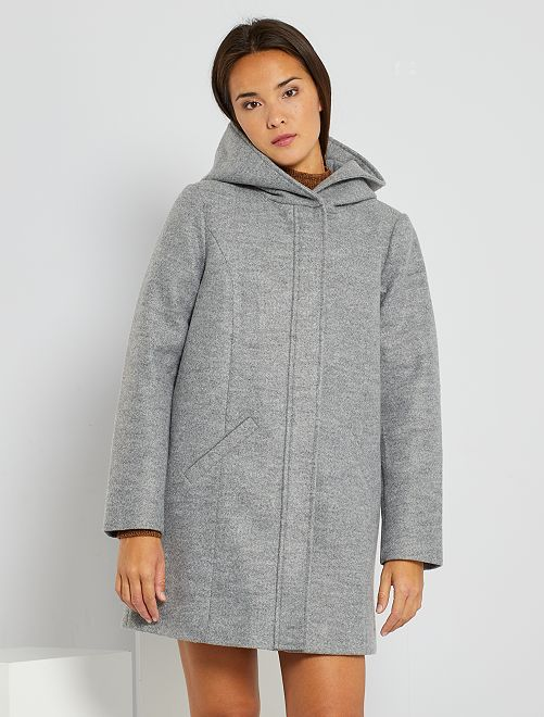 Manteau effet lainage 'JDY'                             gris