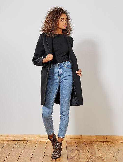 Manteau effet lainage                                                                 noir Femme