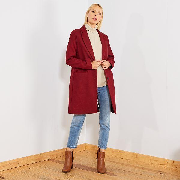Manteau femme bleu kiabi