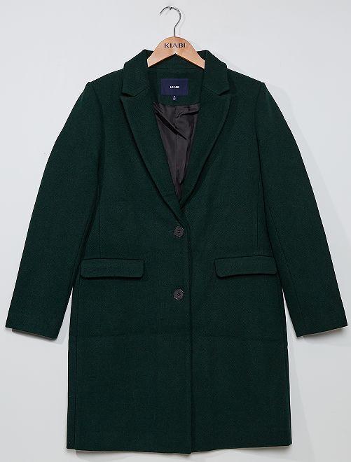 Manteau effet lainage                                                                             vert
