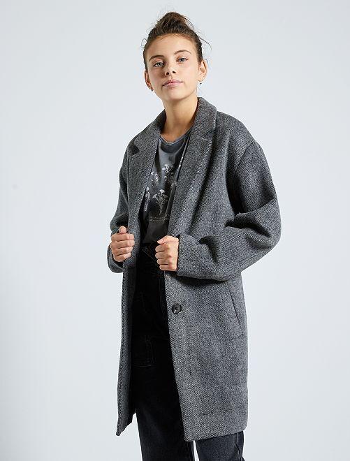 Manteau effet laine                                         gris