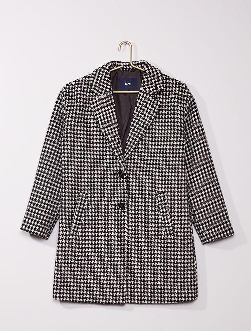 Manteau effet laine                             noir