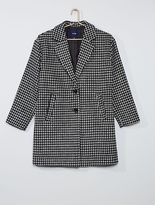 Manteau effet laine                                                     pied de poule