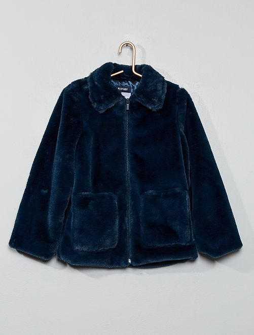 Manteau en fausse fourrure                                         bleu navy