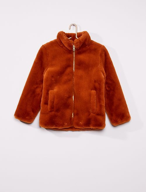 Manteau en fausse fourrure                             orange