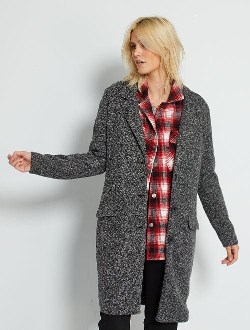 Manteau en maille 'JDY'                                         gris chiné
