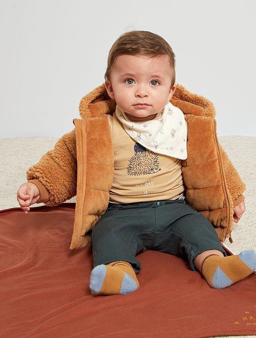 Manteau en sherpa                             marron