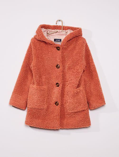 Manteau en sherpa                                         rose