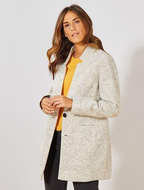 Manteau léger effet lainage                                         beige chiné