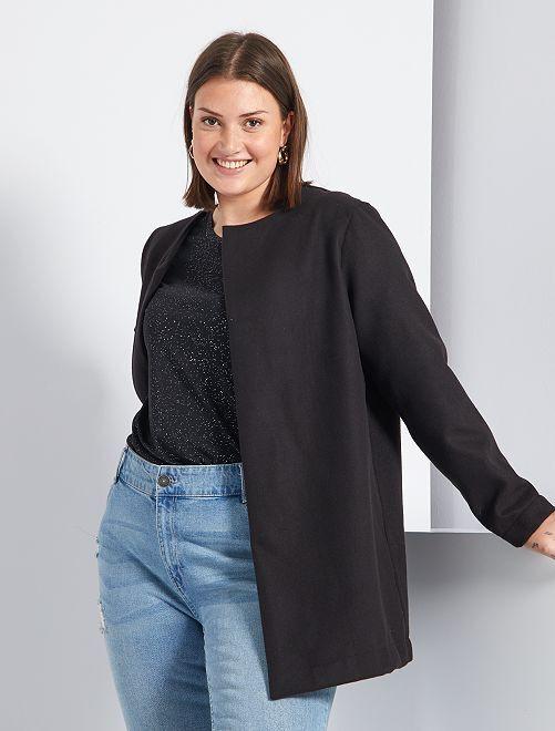 Manteau léger style lainage                             noir