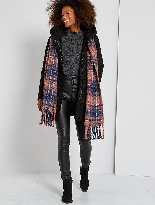 Manteau long en bouclette 'JDY'                             noir