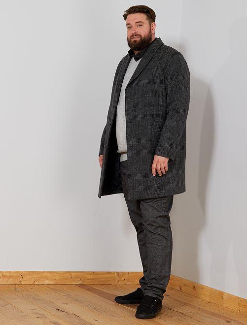 Manteau long en lainage                             gris Grande taille homme