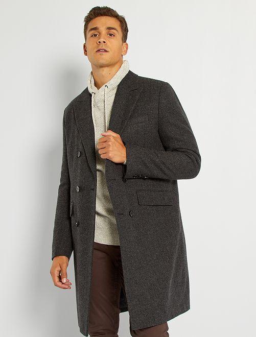 Manteau long esprit lainage                             anthracite