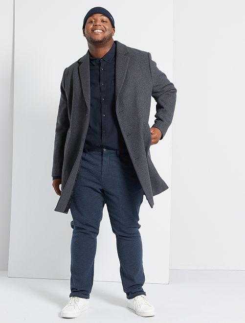 Manteau long esprit lainage                             gris
