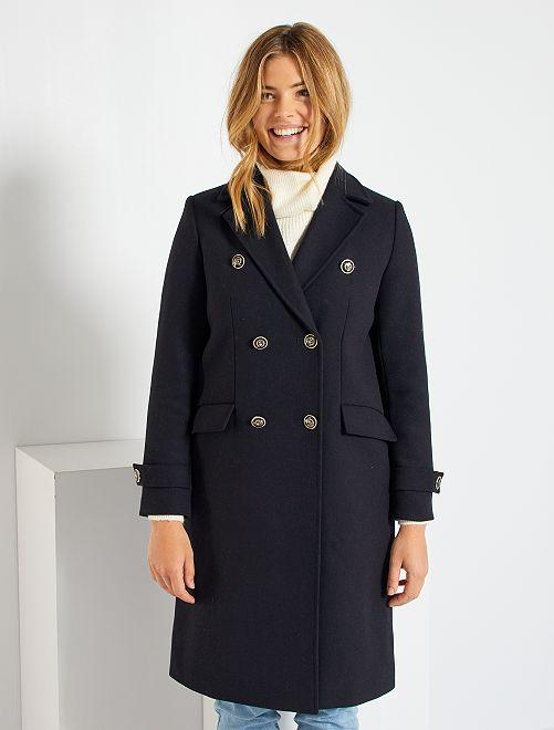 Manteau long style marin                             bleu marine