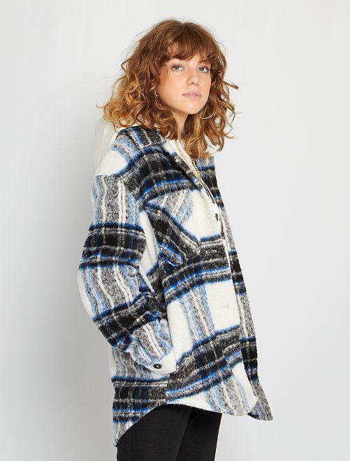 Manteau mi-long                                         bleu
