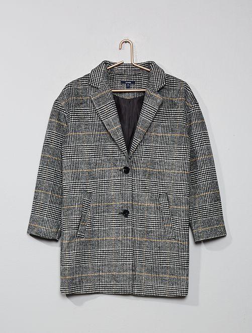 Manteau mi-long                                         carreaux