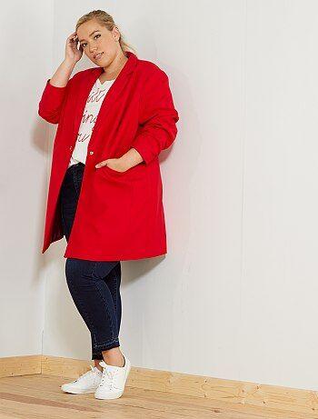 Manteau mi-long coupe droite - Kiabi
