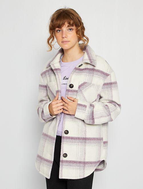 Manteau mi-long                             violet